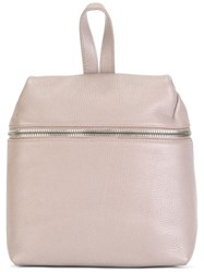 Kara Front Zipped Backpack Pink Purple