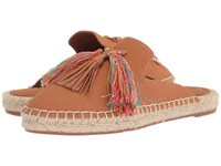 Nine West Val Espadrille Mule Dark Natural Leather Shoes Brown