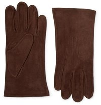 Anderson And Sheppard Suede Gloves Brown