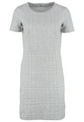 Noa Noa Jersey Dress Grey Melange