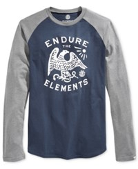 Element Men's Raglan Cotton T Shirt Eclipse