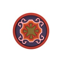 Images D'orient Round Bottle Coaster Sejjadeh Pink
