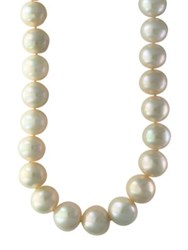 Effy 13Mm Pearl And Sterling Silver Necklace White