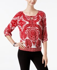 Inc International Concepts Printed Peasant Top Only At Macy's Ancient Embelm