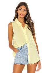 Bcbgeneration Tie Back Sleeveless Top Lemon