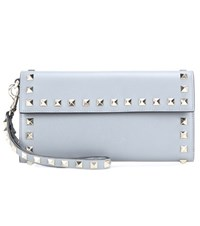 Valentino Rockstud Leather Wallet Blue