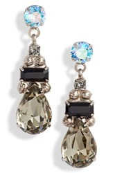 Sorrelli Pear Crystal Drop Earrings Blue