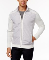 Calvin Klein Men's Quilted Colorblocked Jacket Snow White
