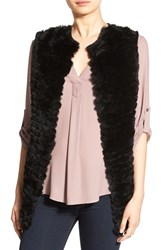 La Fiorentina Women's Genuine Rex Rabbit Fur Vest
