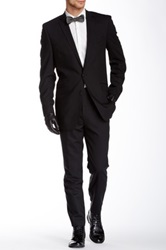 Ben Sherman Kings Fit Notch Lapel Two Button Wool Suit Black