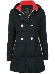 Loveless Double Breasted Padded Coat Black