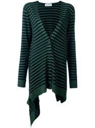 Christian Wijnants 'Krista' Striped Cardigan Blue