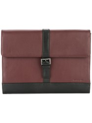 Cerruti 1881 Foldover Clutch Bag Red