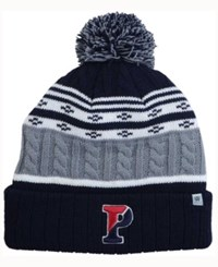 Top Of The World Pennsylvania Quakers Altitude Knit Hat Gray Navy White