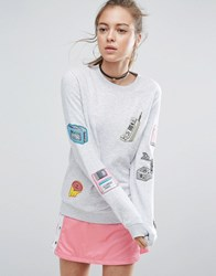 Illustrated People Techno Sweater Grey