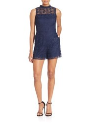 Parker Dori Lace Short Jumpsuit Stealth
