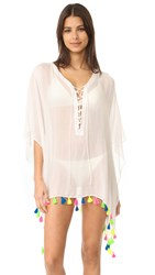 Bindya Lace Up Cover Up Dress White