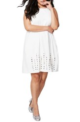 Rachel Roy Plus Size Women's Embellsihed Shift Dress Natural