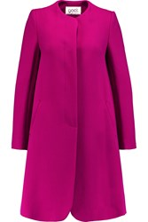 Goat Wool Crepe Coat Pink