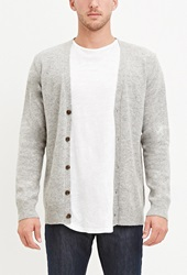 Forever 21 Classic Wool Blend Cardigan Heather Grey