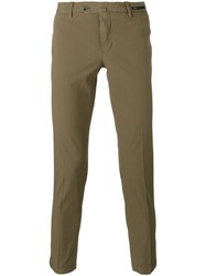 Pt01 Skinny Trousers Men Cotton Spandex Elastane 48 Brown