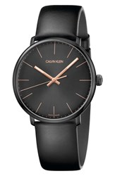 Calvin Klein High Noon Leather Strap Watch 40Mm