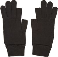 Rick Owens Black Knit Gloves