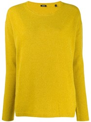 Aspesi Round Neck Knit Sweater Yellow