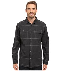 Mountain Hardwear Frequenter Stripe Long Sleeve Shirt Black Men's Long Sleeve Button Up