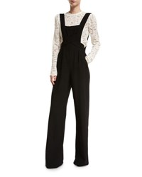 A.L.C. Harlow Crepe Overall Jumpsuit Black