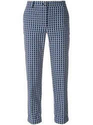 Paul Smith Ps By Cropped Printed Trousers Multicolour