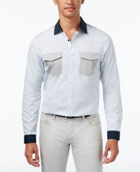Inc International Concepts Men's Darrow Colorblocked Shirt Only At Macy's Billowing