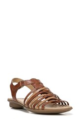 Naturalizer Women's Wade Strappy Sandal Brown Multi Leather