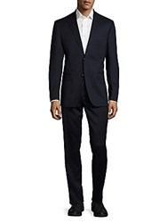 Lauren Ralph Lauren Solid Woolen Two Piece Suit Navy