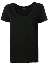 Theory Scoop Neck T Shirt Black