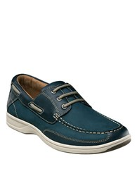 Florsheim Lakeside Leather Oxford Boat Shoes Navy