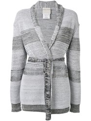 Stephan Schneider Cry Belted Cardigan Women Cotton Wool Xs Blue