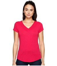 Kuhl Sora Short Sleeve Top Rhubarb Women's Short Sleeve Pullover Red