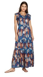 Figue Gianna Dress Andes Blue