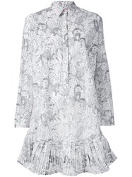 Paul Smith Ps By Cactus Sketch Print Shirt Dress White