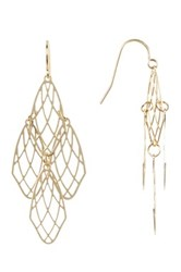 Spring Street Gold Tone Chandelier Drop Earrings Metallic