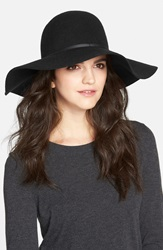 Hinge Floppy Felt Hat Black Black