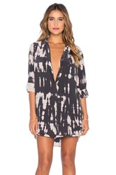 Gypsy 05 Long Sleeve Button Up Shirt Dress Charcoal