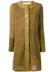 Drome Buttoned Coat Green