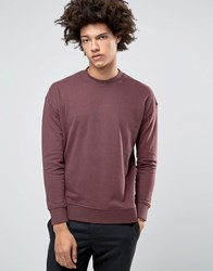 Selected Homme Dropped Shoulder Brushed Sweatshirt Bitter Chocolate Brown