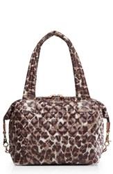 M Z Wallace Mz Medium Sutton Shoulder Tote Brown Leopard Print