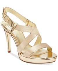Adrianna Papell Anette Evening Sandals Women's Shoes Gold