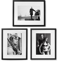 Sonic Editions Framed Get Carter Triptych Prints 17 X 21 Black