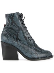Robert Clergerie Moca Boots Leather 36.5 Blue