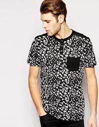 Another Influence T Shirt In All Over Print Black